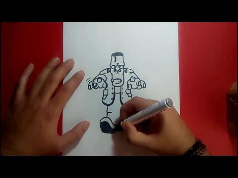 Como dibujar a Frankenstein paso a paso 4 | How to draw Frankenstein 4