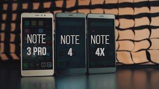 какой xiaomi redmi note лучше купить? битва note 3 pro против note 4 против note 4x
