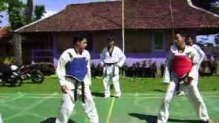 simulasi fight taekwondo teladan club puncak  2