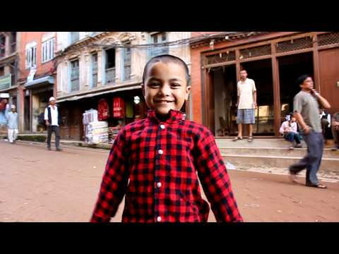 Cute Nepali Children In Baktapur video
