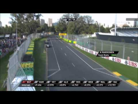 Raikkonen's team radio 2012 Melbourne Formula 1 HD