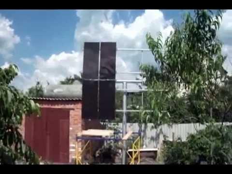 Установка солнечной мини электростанции от Сергея