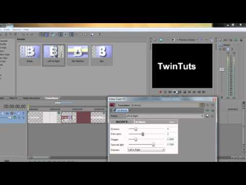 how to add transitions in sony vegas