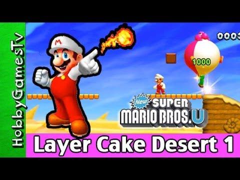 Super Mario Bros. Layer Cake Desert 1 HobbygamersTV HobbyDad HobbyKid Wii U