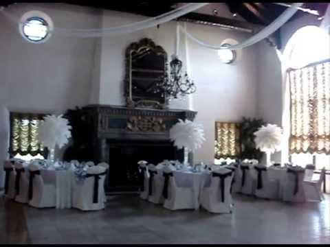 White Wedding Ostrich Feathers Centerpiece Rentals At The
