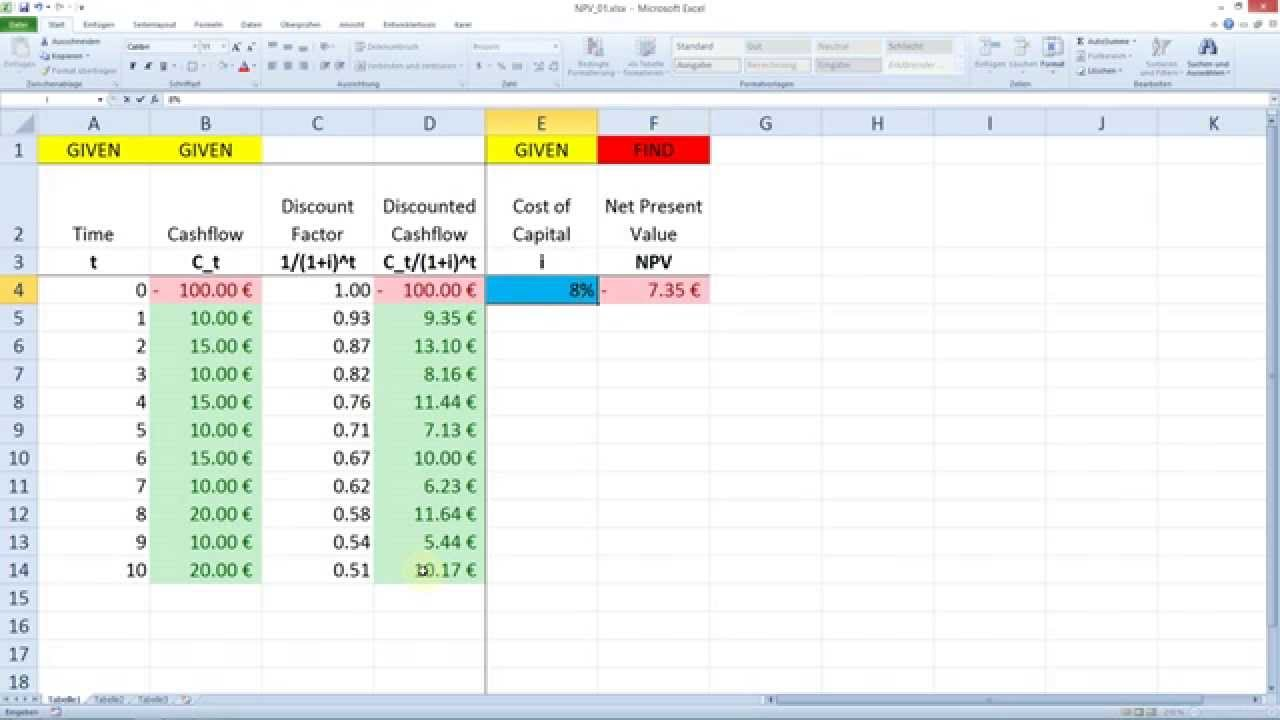 how to find present value if at beginning of period