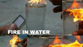 #experiment #Mskcable Fire in water | Experiment | Msk cable