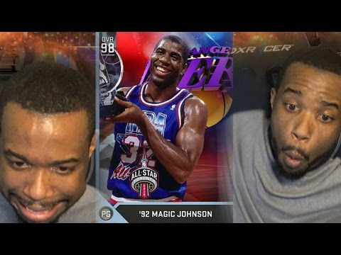 WTF THIS IS AIDS!!! DIAMOND MAGIC JOHNSON BEST POINT GUARD! NBA 2k16 MyTeam Gameplay