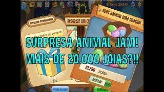 SURPRESA ANIMAL JAM! CÓDIGO PARA GANHAR MAIS DE 20000 JÓIAS!!