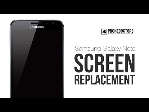 Samsung Note i717 Screen Replacement Tutorial by PHONEDOCTORS.com