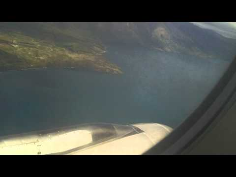 Spectacular take-off from Queenstown airport