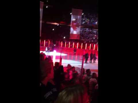Canucks Anthem Singing vs Nashville Predators Nov 2, 2014 sung by Elizabeth Irving