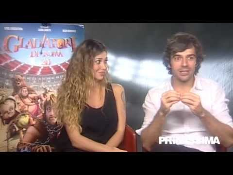 Intervista a Belen Rodriguez e Luca Argentero voci dei Gladiatori di Roma – Primissima.it