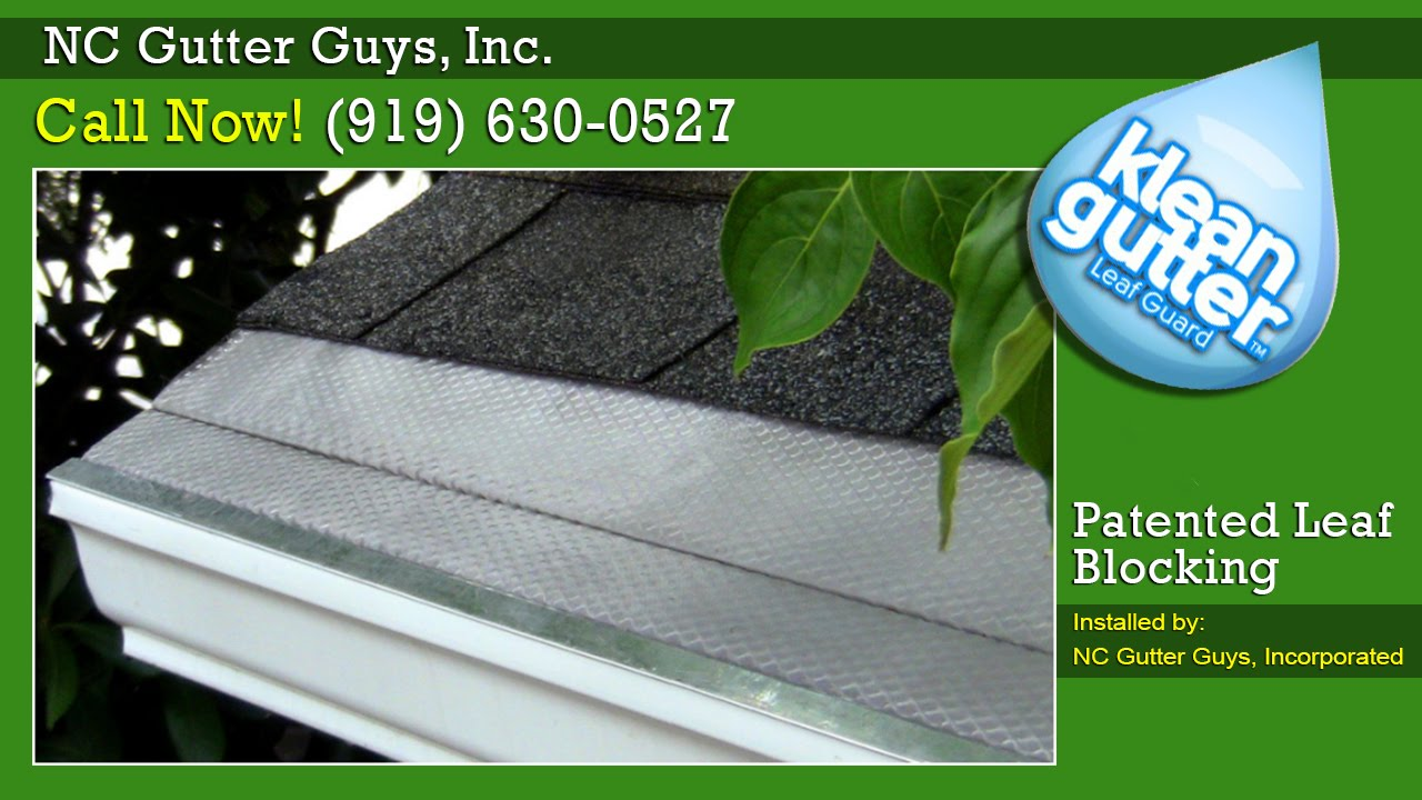 Keep Your Gutters Clean With Klean Gutter Leaf Guard Youtube