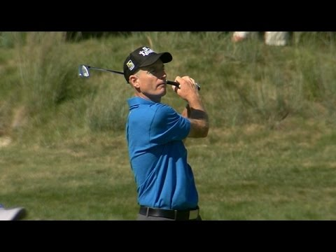 Jim Furyk featured in LIVE@ Deutsche Bank highlights from Round 2