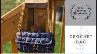 Crochet A Purse With Squares | Truc Nguyen Handmade.