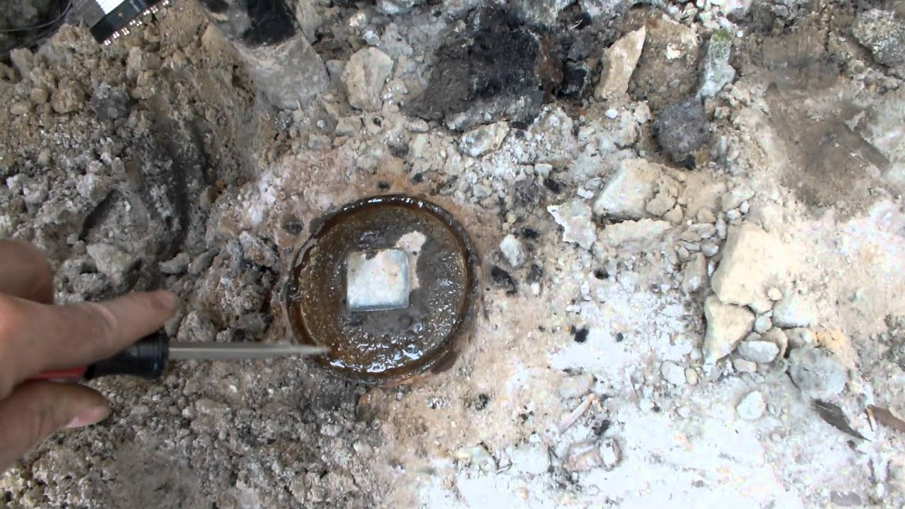Kroil On Stuck Brass Cleanout Old Rusted Iron Pipe Youtube