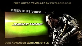 COD Advanced Warfare Gaming Outro Template By Pixel Acid