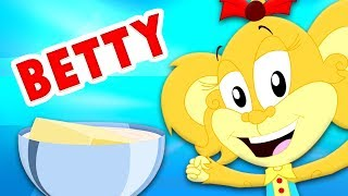 Betty Botter Bought Some Butter | Monkey Rhymes | Kindergarten Videos For Babies by Kids Baby Club