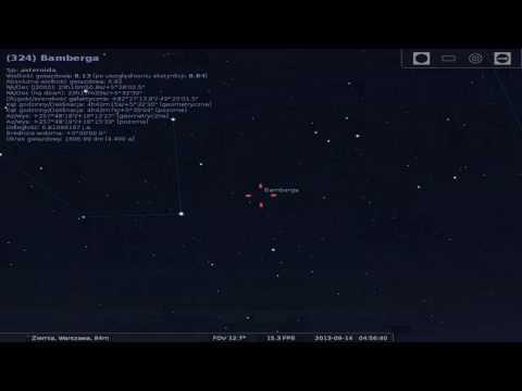 Lokalizacja planetoidy Bamberga - Przelot 13 września