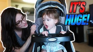 OUR NEW DOUBLE BABY STROLLER!! *HUGE*