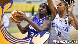Italy v France - Full Game - Quarter-Finals - FIBA U20 Women's European Championship 2017