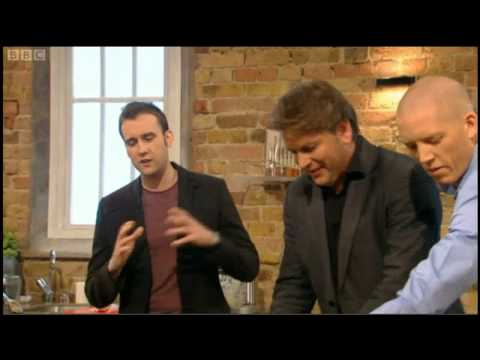 James Martin cooks southern fried chicken with garlic butter for Matthew Lewis