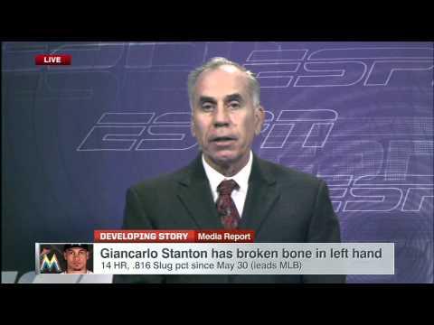 Giancarlo Stanton has broken bone in hand