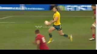 Rugby Union. Quade Cooper vs Wales. Great performance (Best runs, passes, off loads)