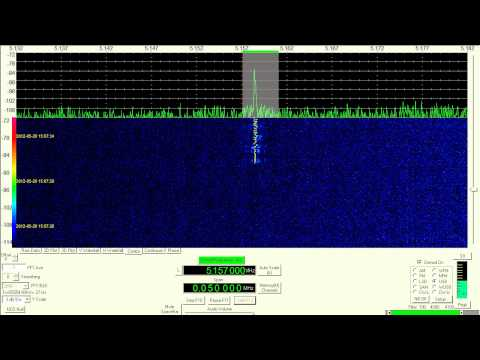 Shortwave Digital Mode, THOR22, 5157 kHz, USB, May 20, 2012. 0700 UTC