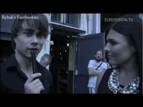 Alexander Rybak & Paula Seling Interview 12.8.12 in Antwerpen, Belgium on Eurovision.tv