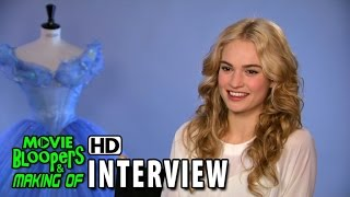 Cinderella (2015) Behind The Scenes Movie Interview - Lily James (Cinderella)