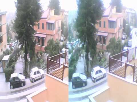 Neve a Roma 16-1-2013 3D Video - Audio olofonico