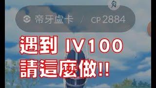 Pokemon Go - 遇到100神獸,請這樣做,比較好抓~~