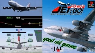 Jet de Go! Lets Go By Airliner Gameplay Takeoff & Landing PS1 HD