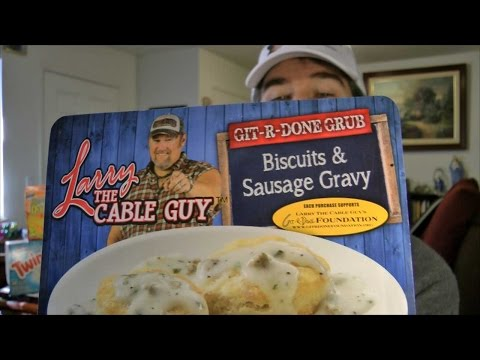 Larry The Cable Guy Biscuits And Sausage Gravy Review (eating The Dollar Stores, Ep #11) video