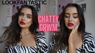 RED LIP GLAM MAKEUP | Lets have a chit chat | Lookfantastic | DISCOUNT CODE! ad