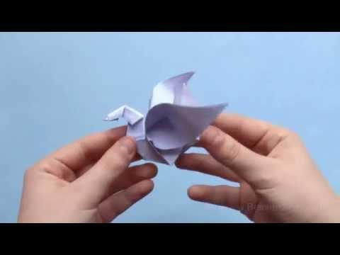 Origami Tiere Falten - #7 Schwan (Swan)