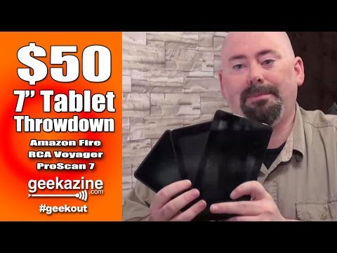 $50 7 Inch Tablet Video Review: Amazon Fire. Voyager7. ProScan