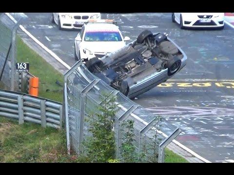 Heavy CRASH Rollover BMW E46 Touristenfahrten Nordschleife 09.10.2016
