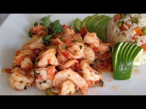 Camarones ala Mexicana  Deliciosa Receta