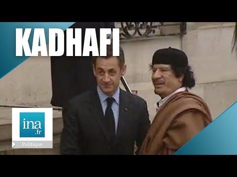Arrivée Du Colonel Kadhafi En France