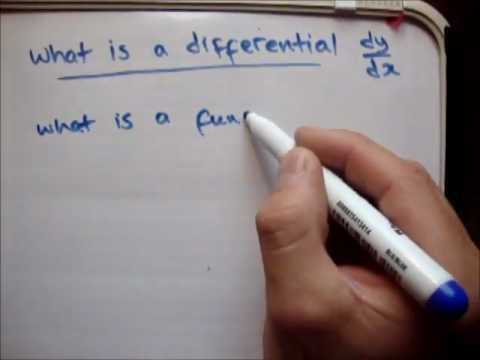 Differentiation : What is a differential / derivative