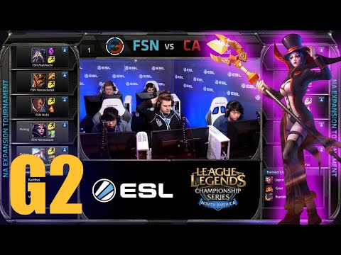 Curse Academy vs Team Fusion | Game 2 Round 2 NA LCS Expansion Tournament | CA vs FSN G2 60FPS