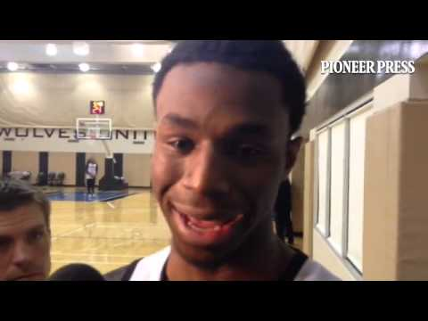 Video: Andrew Wiggins hears of the Kevin Garnett trade for the first time and shares his reaction. #
