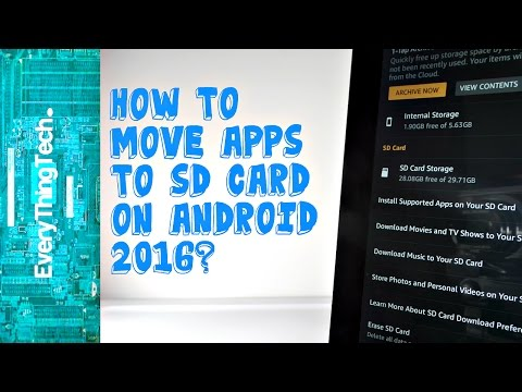 How to put apps on the micro sd card on Android (2016)?