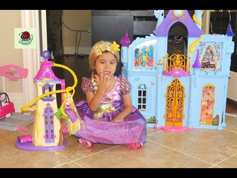 NEW Rapunzel Princess Castle Dollhouse | itsplaytime612 Unboxing Toys Play