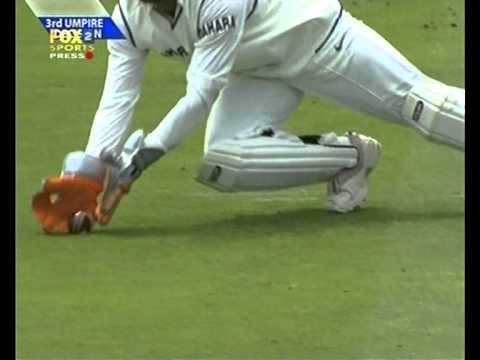 The infamous Dhoni bump catch incident in England, claims a dodgy catch