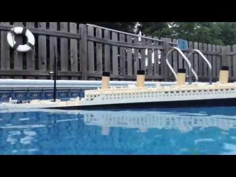 LEGO Titanic Model Sinking [Portside View]