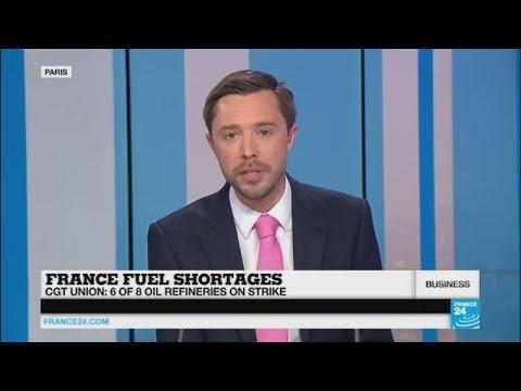 Fuel shortages in France as strike blocks refineries